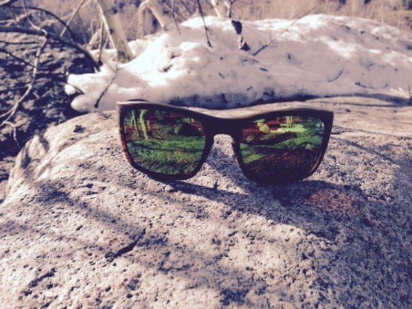 7dcfbf513b0 Penrose Sunglasses Wood with Green Reflex Lens. Reflex   mirror