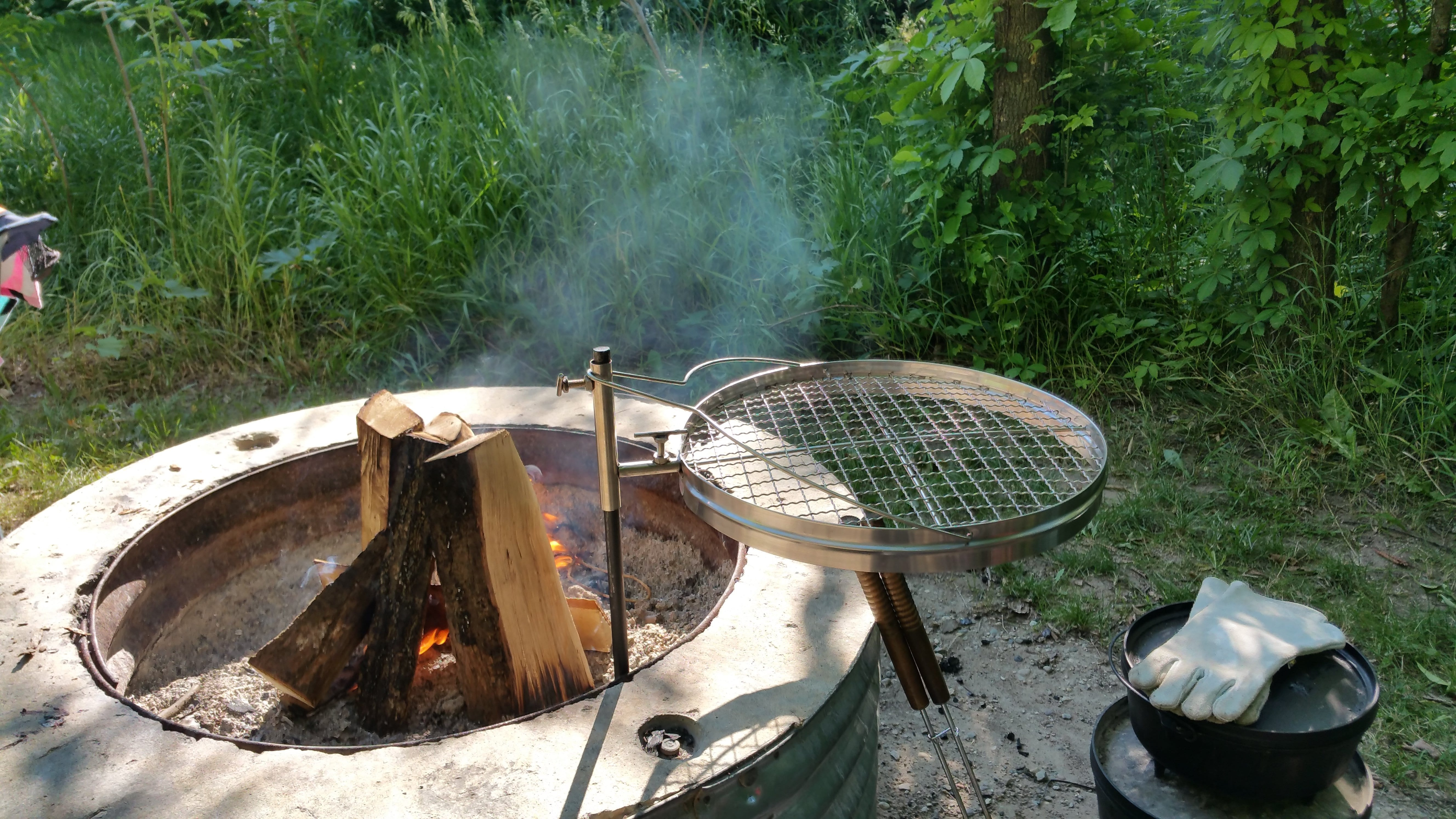 Camerons open fire pit grill review active gear
