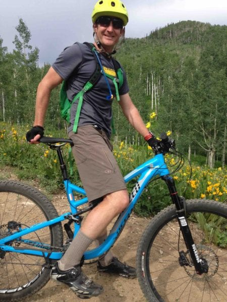 Mountain Biking in OR Ferrosi Shorts