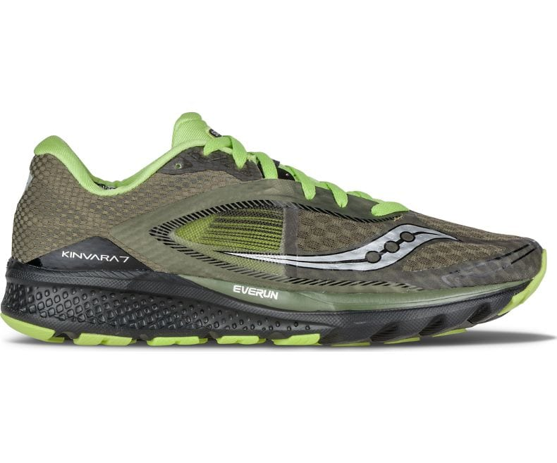 Buying New Mens Athletic Shoes - Saucony Life On The Run Kinvara 7 Olive/Black