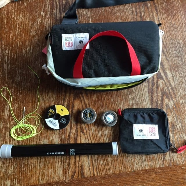 Topo Designs x Tenkara Rod co. Mini Kit Items