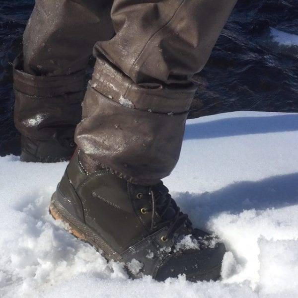 Redington Prowler Wading Boot on Icy Surfaces
