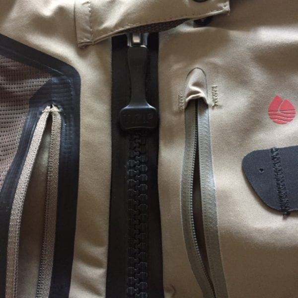 Redington Sonic Pro HDZ Waders Zipper Close Up