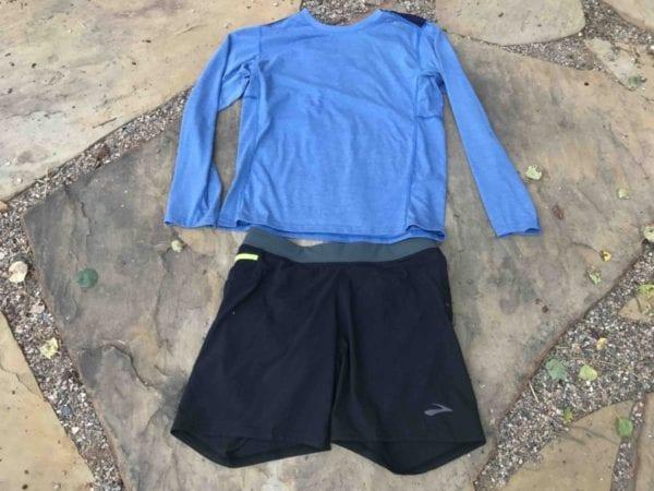 60a4f3e2404d1 Brooks Cascadia Trail Running Shorts + Long Distance Shirt - Active ...