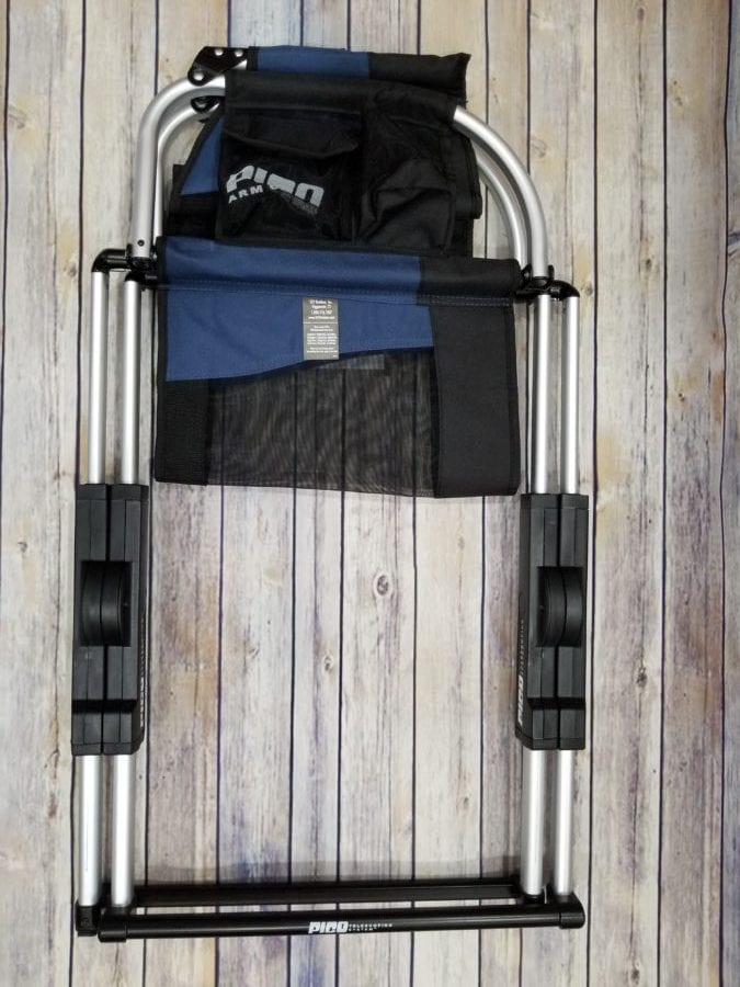 The carrying bag can double as a chair back storage caddy which gives you a place to store your beach towels magazines books beverages sunglasses and ... & Pico Arm Chair Review - Active Gear Review