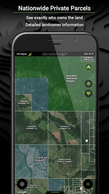 BaseMap App - Outdoor Planning and Navigational Tool All In