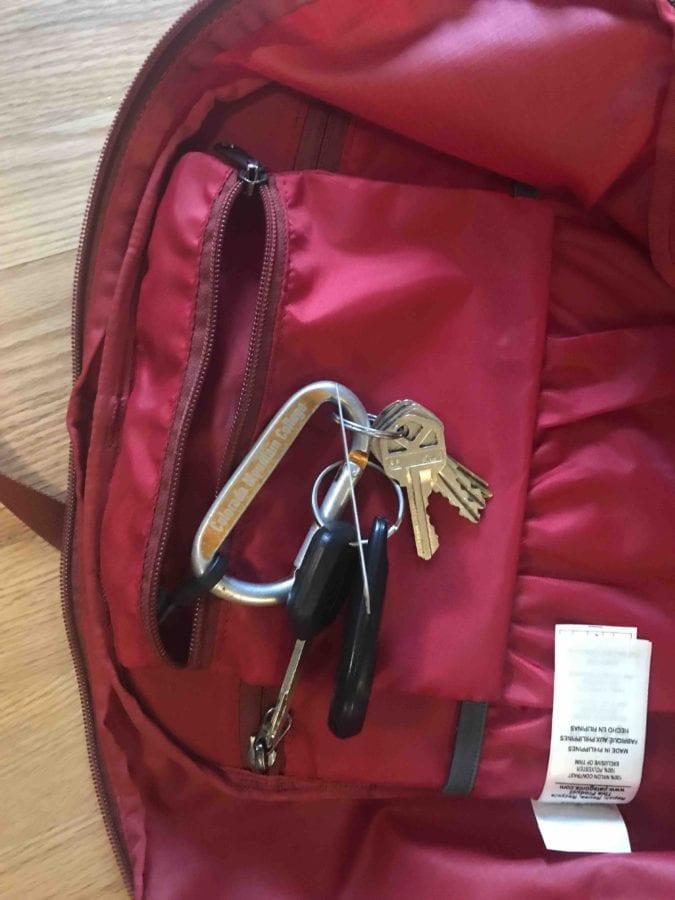 Car key pocket