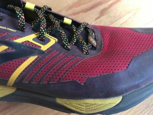 trail running shoe upper