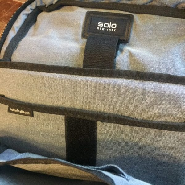 Solo New York Boyd Back Pack Main Pocket