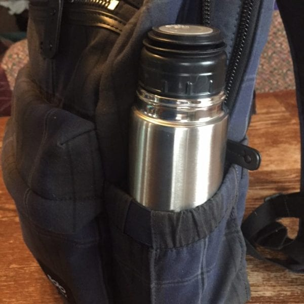 Solo New York Boyd Back Pack Side Pockets with Thermos