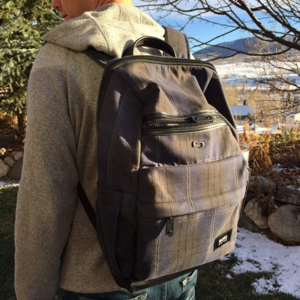 Wearing the Solo New York Boyd Backpack