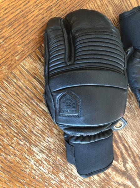 Hestra Leather Fall Line 3-Finger Glove Top View