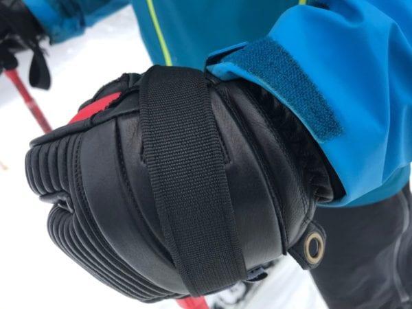 Hestra Leather Fall Line 3-Finger Glove Under Jacket Sleeve