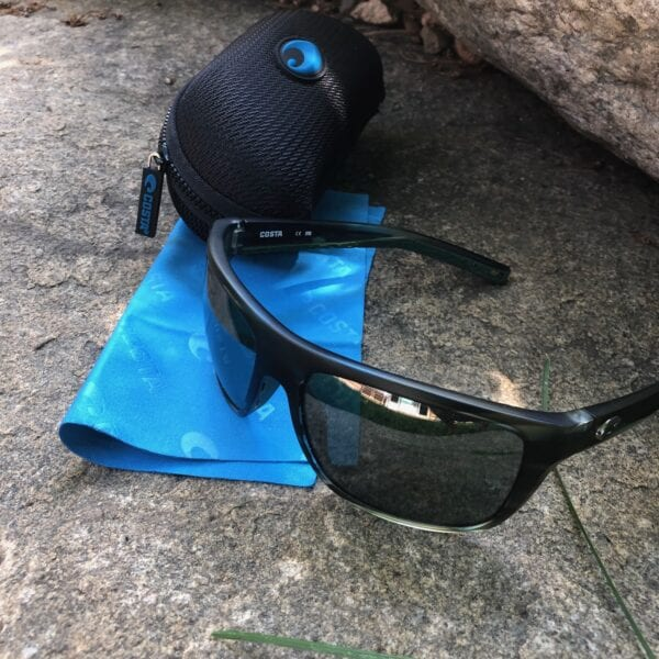 Costa Broadbill Sunglasses, Case, and Lens Cloth